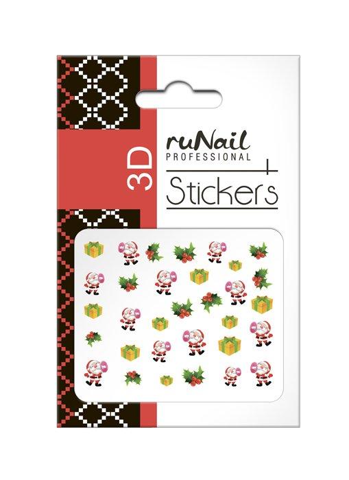 ruNail, 3D Наклейки для дизайна ногтей № 2058Наклейки для дизайна ногтей<br>Самоклеящиеся новогодние цветные наклейки для дизайна ногтей.<br>