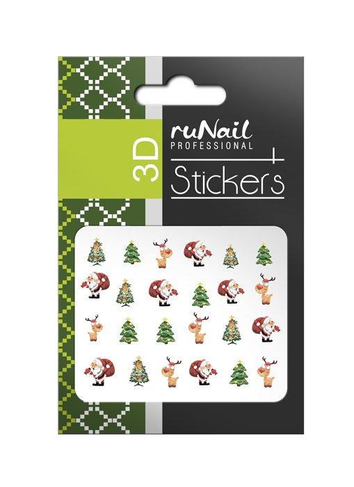 ruNail, 3D Наклейки для дизайна ногтей № 2060Наклейки для дизайна ногтей<br>Самоклеящиеся новогодние цветные наклейки для дизайна ногтей.<br>