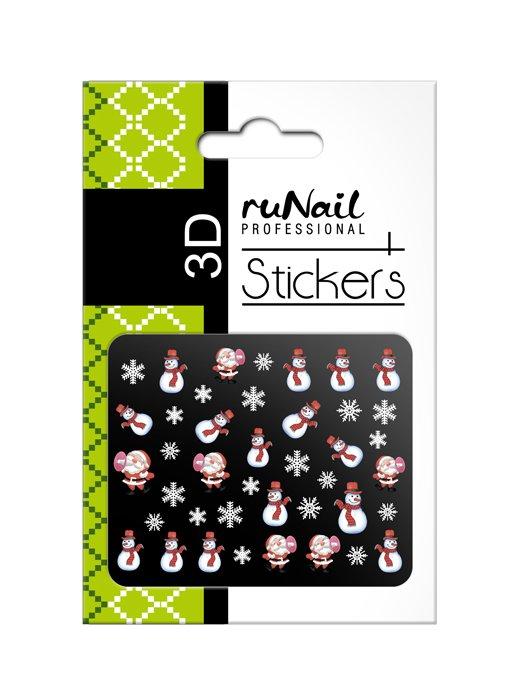 ruNail, 3D Наклейки для дизайна ногтей № 2063Наклейки для дизайна ногтей<br>Самоклеящиеся новогодние цветные наклейки для дизайна ногтей.<br>