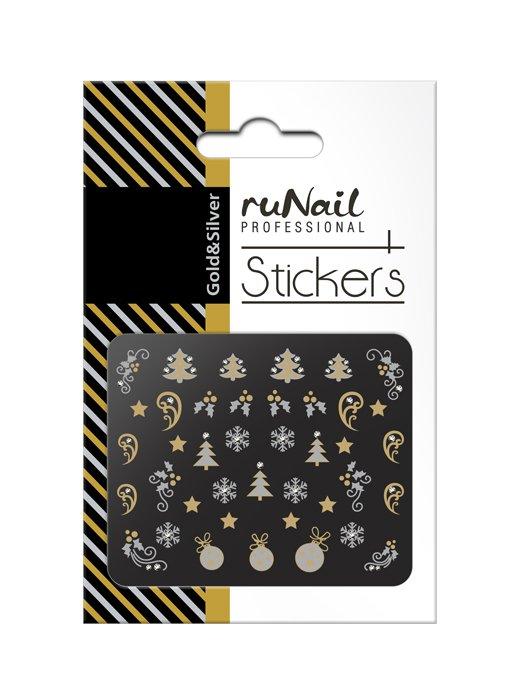 ruNail, 3D Наклейки для дизайна ногтей № 2068Наклейки для дизайна ногтей<br>Самоклеящиеся новогодние наклейки для дизайна ногтей.<br>