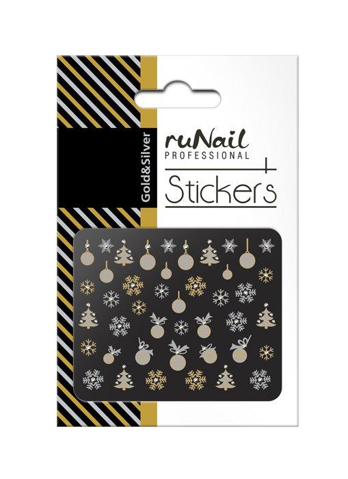 ruNail, 3D Наклейки для дизайна ногтей № 2069Наклейки для дизайна ногтей<br>Самоклеящиеся новогодние наклейки для дизайна ногтей.<br>