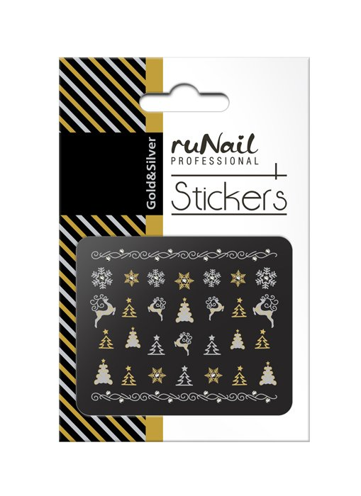 ruNail, 3D Наклейки для дизайна ногтей № 2070Наклейки для дизайна ногтей<br>Самоклеящиеся новогодние наклейки для дизайна ногтей.<br>