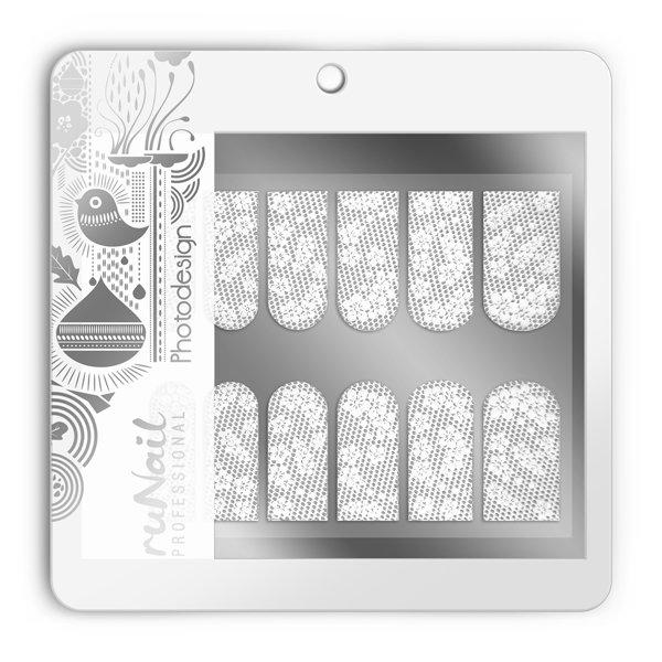 ruNail, Фотодизайн (свадебный) № 1497Фотодизайн для ногтей RuNail<br>Коллекция свадебного фотодизайна.<br>