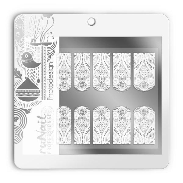 ruNail, Фотодизайн (свадебный) № 1499Фотодизайн для ногтей RuNail<br>Коллекция свадебного фотодизайна.<br>