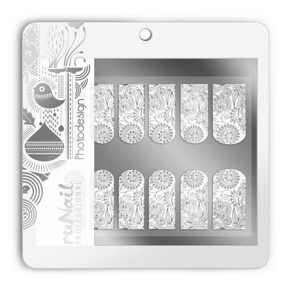 ruNail, Фотодизайн (свадебный) № 1500Фотодизайн для ногтей RuNail<br>Коллекция свадебного фотодизайна.<br>