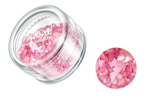 ruNail, Дизайн для ногтей: ракушки 0281 (перламутрово-розовый)Ракушки<br><br>