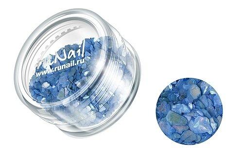 ruNail, Дизайн для ногтей: ракушки 0283 (темно-синий)Ракушки<br><br>