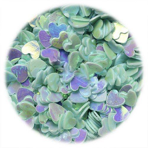 IM, Пайетки для дизайна ногтей - в форме сердца, голубыеПайетки <br><br>