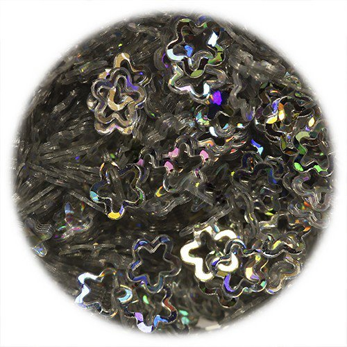IM, Пайетки для дизайна ногтей - в форме звезды резной и обычной, серебряныеПайетки <br><br>