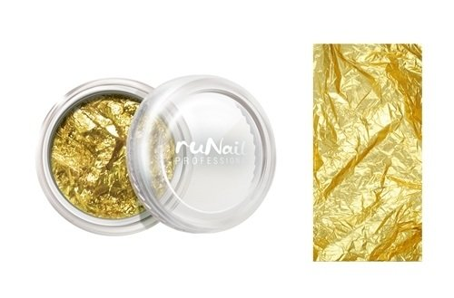 ruNail, Дизайн для ногтей: фольга (золотой) 1150Фольга отрывная<br>Отрывная фольга для эффектного дизайна ногтей.<br>