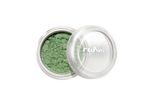 ruNail, Дизайн для ногтей: пигмент 1161 (зеленый, перламутровый)Пигмент<br>Цветной пигмент для дизайна ногтей предназначен для создания новых цветов и оттенков.<br>