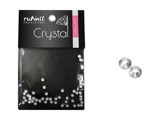 ruNail, Дизайн для ногтей: стразы 1181 (прозрачные, 2мм) 50шт.Стразы<br>Прозрачные кристаллы для праздничного дизайна ногтей.<br>