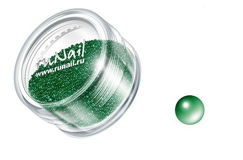 ruNail, Дизайн для ногтей: бульонки 0313 (ярко-зеленый)Бульонки<br><br>