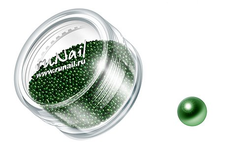 ruNail, Дизайн для ногтей: бульонки 0323 (зеленый)Бульонки<br><br>