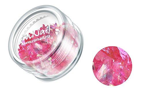 ruNail, Дизайн для ногтей: слюда 0328 (розовый)Слюда<br><br>