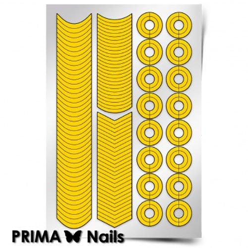 PrimaNails, Трафарет для дизайна ногтей - Френч и лунки. КлассикаPrimaNails<br>Самоклеющиеся трафареты<br>