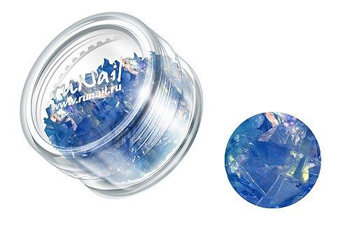 ruNail, Дизайн для ногтей: слюда 0331 (темно-синий)Слюда<br><br>