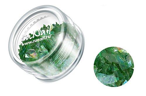 ruNail, Дизайн для ногтей: слюда 0338 (светло-зеленый)Слюда<br><br>
