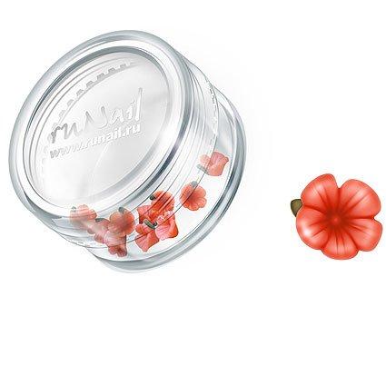 ruNail, Дизайн для ногтей: пластиковые цветы 0358 (вьюнок, оранжевый), 10 штукПластиковые цветы<br>Имитация акриловой лепки для объемного дизайна. Применение пластиковых цветов в дизайне ногтей экономит Ваше время.<br>