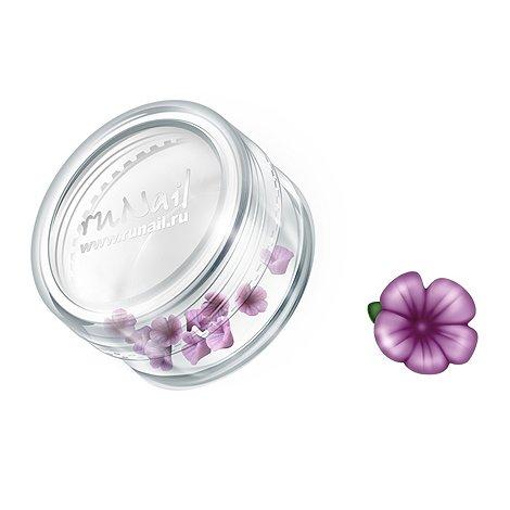 ruNail, Дизайн для ногтей: пластиковые цветы 0361 (вьюнок, фиолетовый), 10 штукПластиковые цветы<br>Имитация акриловой лепки для объемного дизайна. Применение пластиковых цветов в дизайне ногтей экономит Ваше время.<br>