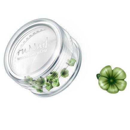ruNail, Дизайн для ногтей: пластиковые цветы 0363 (вьюнок, темно-зеленый), 10 штукПластиковые цветы<br>Имитация акриловой лепки для объемного дизайна. Применение пластиковых цветов в дизайне ногтей экономит Ваше время.<br>
