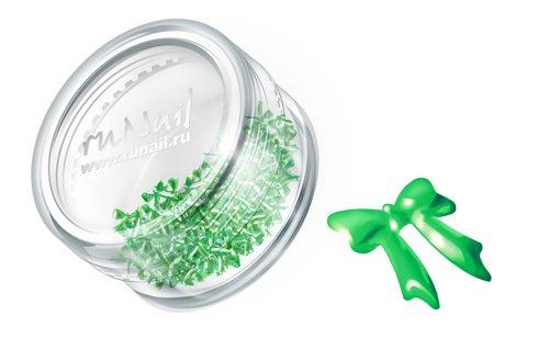 ruNail, Дизайн для ногтей: бантики из ткани 0376 (светло-зеленый)Украшения из ткани<br>Бантики из ткани устойчивы к мономеру. Их можно использовать для дизайна как натуральных, так и искусственных ногтей (акрил, гель).<br>