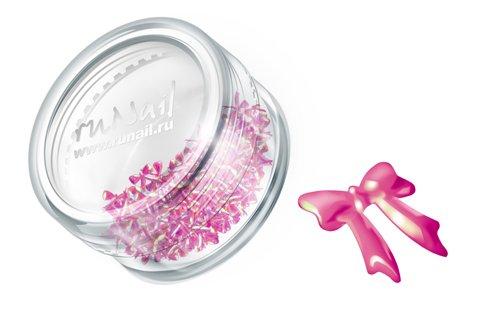 ruNail, Дизайн для ногтей: бантики из ткани 0379 (розовый) (RuNail (Россия))