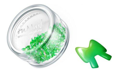 ruNail, Дизайн для ногтей: бантики из ткани 0380 (зеленый)Украшения из ткани<br>Бантики из ткани устойчивы к мономеру. Их можно использовать для дизайна как натуральных, так и искусственных ногтей (акрил, гель).<br>
