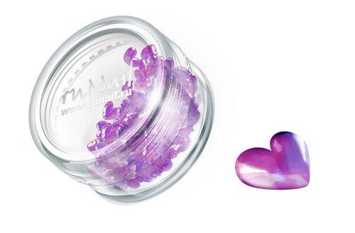 ruNail, Дизайн для ногтей: сердечки из ткани 0395 (пурпурный)Украшения из ткани<br>Украшения из ткани устойчивы к мономеру. Их можно использовать для дизайна как натуральных, так и искусственных ногтей.<br>