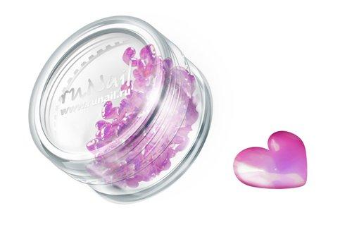 ruNail, Дизайн для ногтей: сердечки из ткани 0396 (темно-розовый)Украшения из ткани<br>Украшения из ткани устойчивы к мономеру. Их можно использовать для дизайна как натуральных, так и искусственных ногтей.<br>