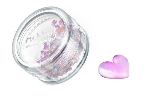 ruNail, Дизайн для ногтей: сердечки из ткани 0398 (белые)Украшения из ткани<br>Украшения из ткани устойчивы к мономеру. Их можно использовать для дизайна как натуральных, так и искусственных ногтей.<br>