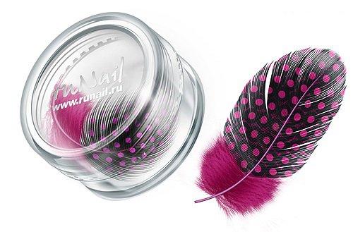 ruNail, Дизайн для ногтей: перья 0404 (ярко-розовый) (RuNail (Россия))