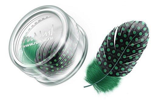 ruNail, Дизайн для ногтей: перья 0406 (темно-зеленый)Перья<br>Перья используются в основном для конкурсного дизайна. Можно украсить ноготь, как целым пером, так и оторвав от него отдельные элементы.<br>