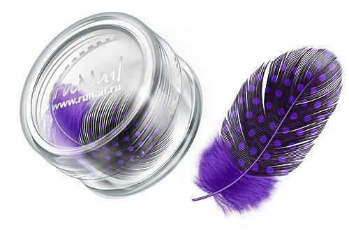 ruNail, Дизайн для ногтей: перья 0407 (пурпурный)Перья<br>Перья используются в основном для конкурсного дизайна. Можно украсить ноготь, как целым пером, так и оторвав от него отдельные элементы.<br>