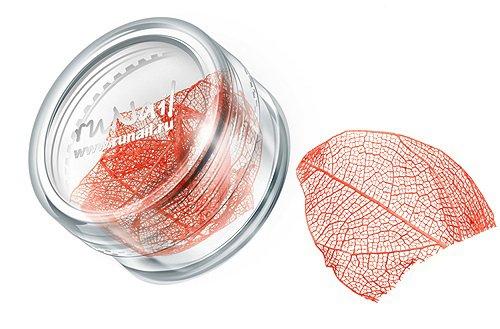 ruNail, Дизайн для ногтей: сухие листья 0436 (оранжевый) (RuNail (Россия))