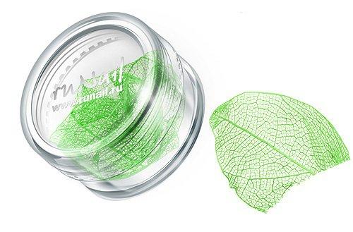 ruNail, Дизайн для ногтей: сухие листья 0437 (зеленый)Сухие листья<br>Сухие листья подходят для внутреннего дизайна при моделировании ногтей акрилом и гелем.<br>