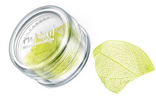 ruNail, Дизайн для ногтей: сухие листья 0438 (ярко-желтый)Сухие листья<br>Сухие листья подходят для внутреннего дизайна при моделировании ногтей акрилом и гелем.<br>