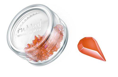ruNail, Дизайн для ногтей: пластиковые капельки 0450 (оранжевый)Пластиковые капельки<br><br>