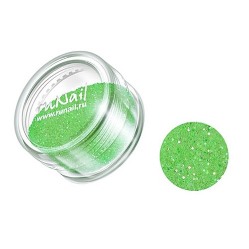 ruNail, Дизайн для ногтей: блестки 0634 (ярко-зеленый)Блестки<br><br>