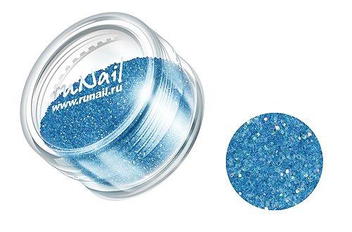 ruNail, Дизайн для ногтей: блестки 0638 (синий металлик)Блестки<br><br>