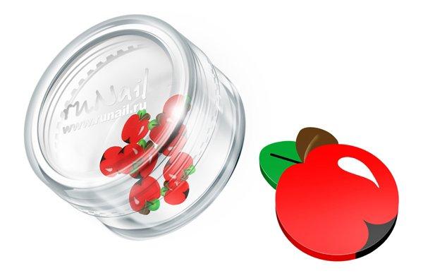 ruNail, Дизайн для ногтей: резиновые аппликации 0694 (яблоки, красный)Резиновые аппликации<br><br>