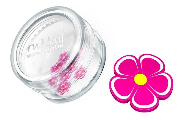 ruNail, Дизайн для ногтей: резиновые аппликации 0699 (цветы, розовый)Резиновые аппликации<br><br>