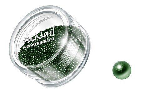 ruNail, Дизайн для ногтей: бульонки GBPC008 (насыщенный зеленый)Бульонки<br><br>