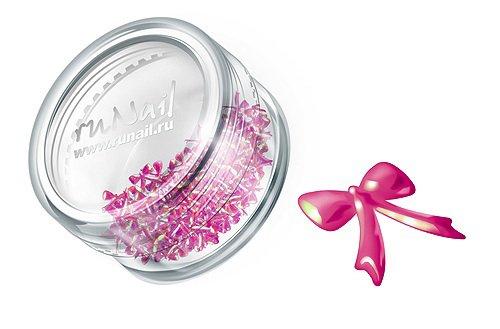 ruNail, Дизайн для ногтей: бантики из ткани FRBO004 (розовый)Украшения из ткани<br>Бантики из ткани устойчивы к мономеру. Их можно использовать для дизайна как натуральных, так и искусственных ногтей (акрил, гель).<br>