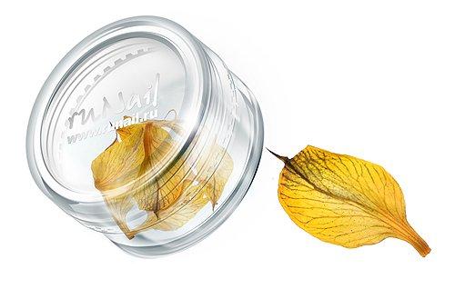 ruNail, Дизайн для ногтей: сухоцветы (ярко-желтый), DRFL012Сухоцветы<br>Сухоцветы подходят для внутреннего дизайна при моделировании ногтей акрилом и гелем.<br>