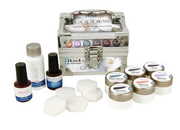 IBD, Коллекция цветных гелей IBD Goddess Collection Soak offГели для наращивания IBD<br>6 цветов по 7 гр + 3 вспом. ср-ва.<br>
