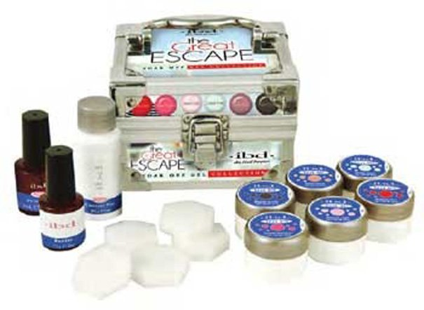 IBD, Набор гель-лаков IBD Great Escape Soak offГели для наращивания IBD<br>6 цветов по 7 гр + 3 вспом. ср-ва.<br>
