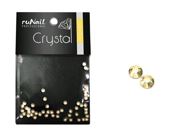 ruNail, Дизайн для ногтей: стразы 1484 (золотые, 1.5мм) 50шт.Стразы<br>Золотые кристаллы для праздничного дизайна ногтей.<br>