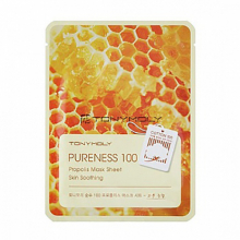 TONY MOLY, Pureness 100 Propolis Mask Sheet - Тканевая маска с экстрактом прополиса (21 мл.)