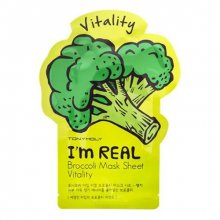 TONY MOLY, I`m Real Broccoli Mask Sheet - Тканевая маска с экстрактом брокколи (21 мл.)